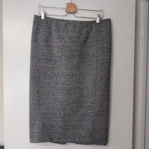 H&M Midi-Length Grey Pencil Skirt (L)